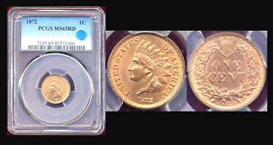 Click now to see the BUY IT NOW Price! 1872 1C PCGS MS65RD  MUSEUM PIECE  INDIAN SMALL CENT