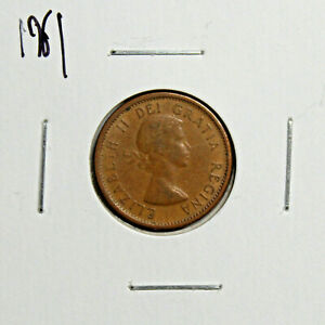 1961 CANADA PENNY 1 CENT COPPER CANADIAN COIN