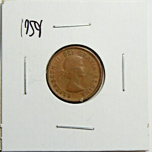 1959 CANADA PENNY 1 CENT COPPER CANADIAN COIN