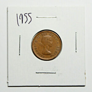 1955 CANADA PENNY 1 CENT COPPER CANADIAN COIN