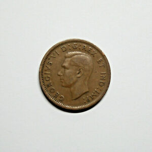 1937 CANADA PENNY 1 CENT COPPER KING GEORGE VI CANADIAN COIN