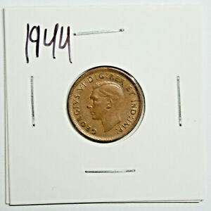 1944 CANADA PENNY 1 CENT COPPER KING GEORGE VI CANADIAN COIN