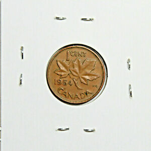 1954 CANADA PENNY 1 CENT COPPER CANADIAN COIN