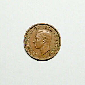 1940 CANADA PENNY 1 CENT COPPER KING GEORGE VI CANADIAN COIN
