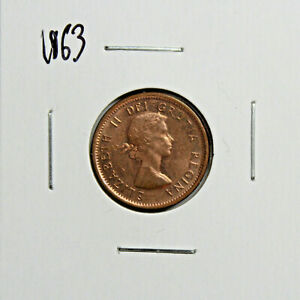 1963 CANADA PENNY 1 CENT COPPER CANADIAN COIN