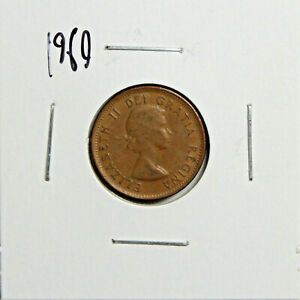 1960 CANADA PENNY 1 CENT COPPER CANADIAN COIN