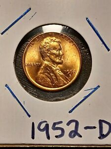 1952 D LINCOLN WHEAT CENT CIRCULATED UNGRADED