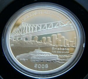 Click now to see the BUY IT NOW Price! 2008 PERTH MINT DISCOVER AUSTRALIA SERIES BRISBANE 1OZ SILVER PROOF