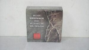 Click now to see the BUY IT NOW Price! 2003 BRILLIANT UNCIRCULATED DOLLAR ROYAL CANADIAN MINT UNOPENED BOX CANADA