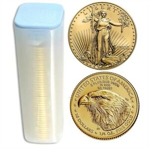 Click now to see the BUY IT NOW Price! LOT OF 40   2019 1/4 OZ GOLD AMERICAN EAGLE $10 COIN BU IN US MINT TUBE