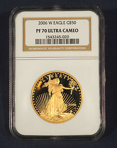 Click now to see the BUY IT NOW Price! 2006 W AMERICAN $50 GOLD EAGLE PF 70 ULTRA CAMEO NGC PF70
