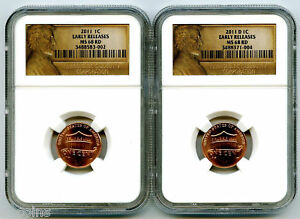 Click now to see the BUY IT NOW Price! 2011 P D UNION SHIELD CENT SET EARLY RELEASE NGC MS68 RD LY  US MINT