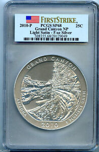 Click now to see the BUY IT NOW Price! 2010 P GRAND CANYON 5OZ ATB PCGS SP68 LIGHT SATIN LY