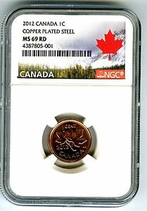 Click now to see the BUY IT NOW Price! 2012 CANADA CENT NGC MS69 MAGNETIC STEEL LAST YEAR CANADA LABEL LY