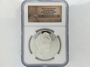 2009 P LINCOLN BICENTENNIAL SILVER COMMEMORATIVE DOLLAR $1   NGC PF 69   2474