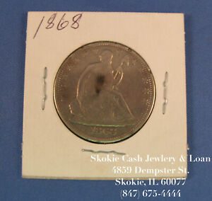 1868 SEATED LIBERTY HALF DOLLAR 50 CENTS