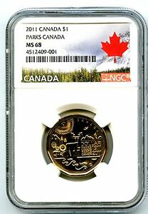 Click now to see the BUY IT NOW Price! 2011 CANADA $1 PARKS CENTENNIAL LOONIE NGC MS68 HIGH GRADE LANDSCAPE LABEL TOP 1