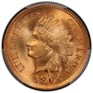 Click now to see the BUY IT NOW Price! 1904 1C INDIAN CENT   TYPE 3 BRONZE PCGS MS66RD  CAC