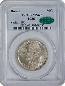 Click now to see the BUY IT NOW Price! 1936 BOONE COMMEMORATIVE HALF MS67 PCGS/CAC MINT STATE 67