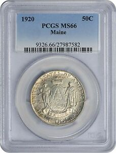 Click now to see the BUY IT NOW Price! 1920 MAINE COMMEMORATIVE HALF MS66 PCGS MINT STATE 66