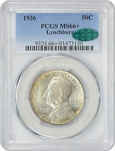 Click now to see the BUY IT NOW Price! 1936 LYNCHBURG COMMEMORATIVE HALF MS66  PCGS CAC