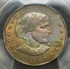 Click now to see the BUY IT NOW Price! 1999 SUSAN B ANTHONY DOLLAR PCGS MS 67 QA 30TH ANN. LABEL   NICE TONING   MM953