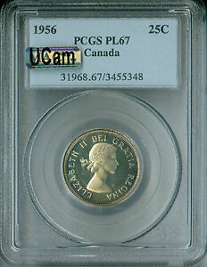 Click now to see the BUY IT NOW Price! 1956 CANADA 25 CENTS PCGS MAC PL67 UCAM  2ND FINEST