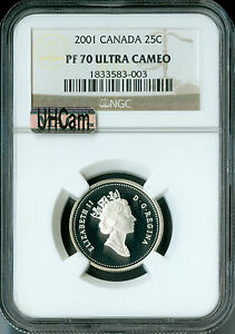Click now to see the BUY IT NOW Price! 2001 CANADA SILVER 25 CENTS NGC MAC PR70 UHCAM  SOLO FINEST SPOTLES