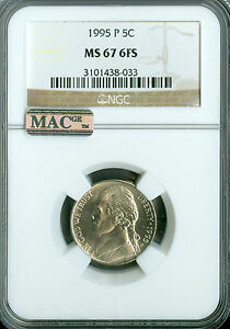 Click now to see the BUY IT NOW Price! 1995 P JEFFERSON NICKEL NGC MAC MS67 6 FS PQ 2ND FINEST REGISTRY SPOTLESS