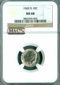 Click now to see the BUY IT NOW Price! 1969 D ROOSEVELT DIME NGC MAC MS68 PQ FINEST REGISTRY  SPOTLESS