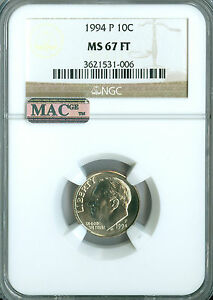 Click now to see the BUY IT NOW Price! 1994 P ROOSEVELT DIME NGC MAC MS67 FT  DATE SPOTLESS