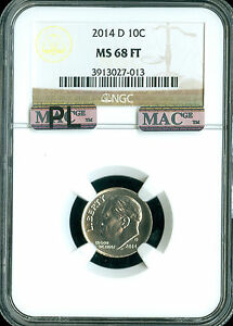 Click now to see the BUY IT NOW Price! 2014 D ROOSEVELT DIME NGC MAC MS68 FT PL PQ FINEST GRADED  SPOTLESS