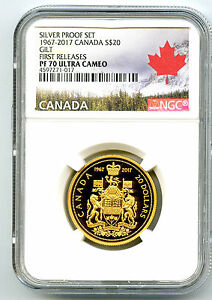 Click now to see the BUY IT NOW Price! 1967 2017 $20 CANADA SILVER GILT TWENTY DOLLAR PROOF NGC PF70 CENTENNIAL