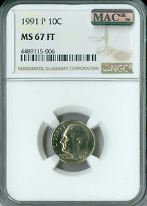 Click now to see the BUY IT NOW Price! 1991 P ROOSEVELT DIME NGC MAC MS67 FT PQ LY  FINEST REGISTRY SPOTLESS