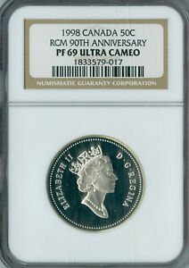 Click now to see the BUY IT NOW Price! 1998 CANADA 90TH SILVER 50 CENTS NGC MAC PR70 UCAM  FINEST