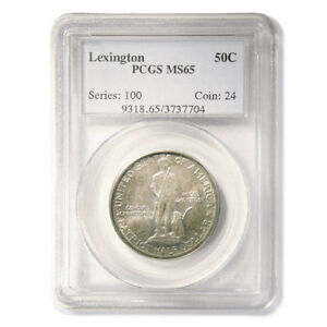 Click now to see the BUY IT NOW Price! USA 1925 LEXINGTON & CONCORD SESQUICENTENNIAL COMMEMORATIVE HALF DOLLAR PCGS MS