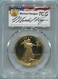 Click now to see the BUY IT NOW Price! 1986 W $50 GOLD EAGLE 1 OZ. PCGS PR69 DCAM. REAGAN LEGACY SERIES SIGNED.