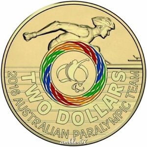 2016 RIO PARALYMPICS GAMES $2 MULTICOLOURED  UNC