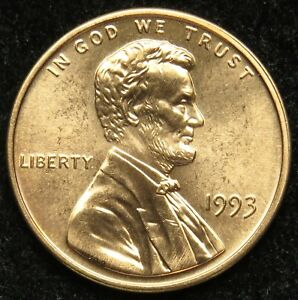 1993 UNCIRCULATED LINCOLN MEMORIAL CENT PENNY BU  B05