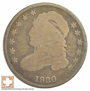 1830 CAPPED BUST DIME  XB72