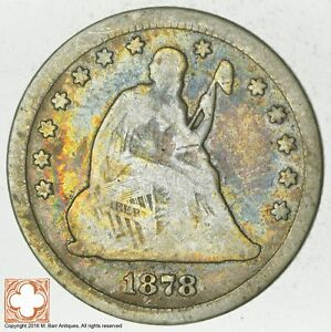 1878 CC SEATED LIBERTY SILVER QUARTER  5799