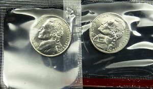 1999 P AND D SET OF UNCIRCULATED BU JEFFERSON NICKEL MINT CELLO  B03