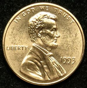 1993 UNCIRCULATED LINCOLN MEMORIAL CENT PENNY BU  B02