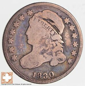 1830 CAPPED BUST DIME  2651