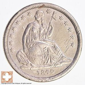 1840 SEATED LIBERTY SILVER DIME  3951