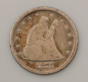 1875 S SEATED LIBERTY SILVER TWENTY CENT PIECE  G68