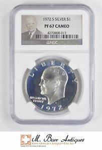 1972 S EISENHOWER IKE DOLLAR   SILVER   UNCIRCULATED NGC GRADED PF67 CAM  5062
