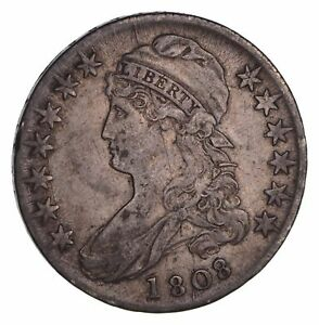 1808 CAPPED BUST HALF DOLLAR   CIRCULATED  1398