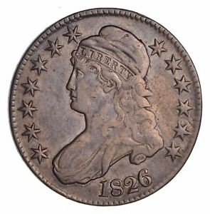 1826 CAPPED BUST HALF DOLLAR   CIRCULATED  1429