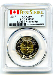 Click now to see the BUY IT NOW Price! 2017 CANADA $2 PCGS MS66 BATTLE OF VIMY RIDGE 100TH ANNIVERSARY FIRST STRIKE